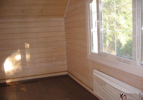 Внутренняя отделка дачного домика ПВХ панелями