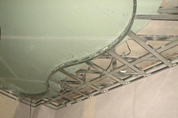 Вот даже такие поверхности позволяет создавать своими руками гипсокартон – заметьте, на фото потолок двухуровневый