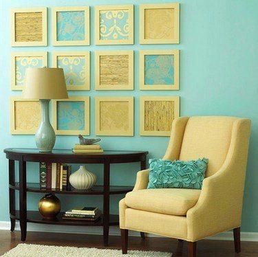 Вот так, очень просто можно сделать стильный декор в комнате
