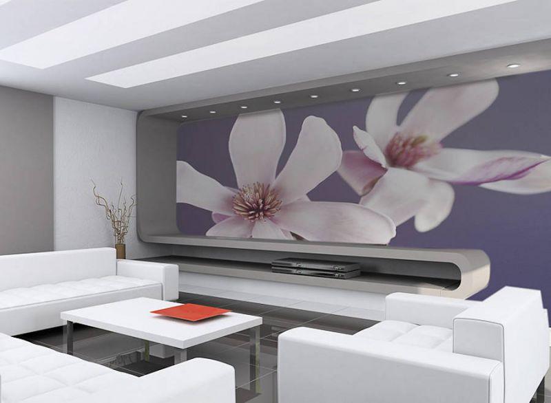 Все элементы интерьера должны сочетаться с панорамой на стене