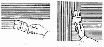 Второй слой наносите горизонтально. Если необходимо, третий из слоев наносите опять вертикально.