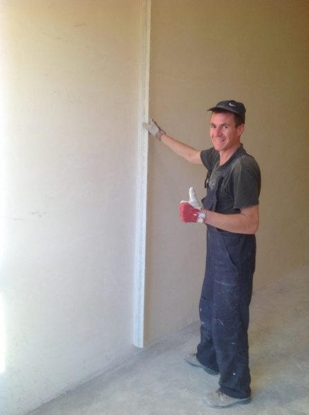 Выравниваем стены, если имеются значительные перепады.