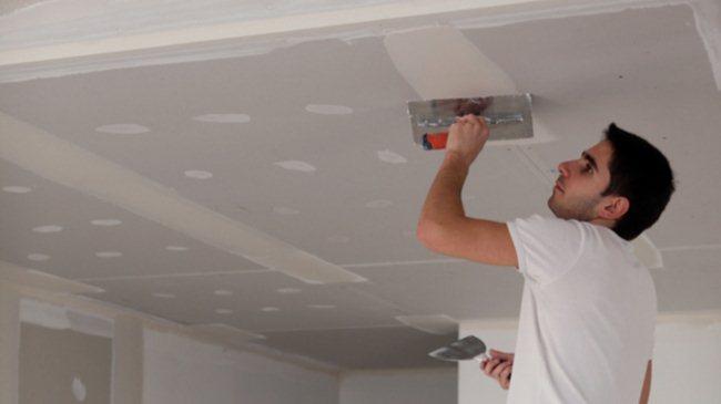 Выравнивание гипсокартонного потолка