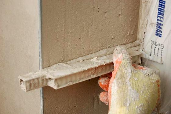 Оконные откосы из цементного раствора бетон для плотин