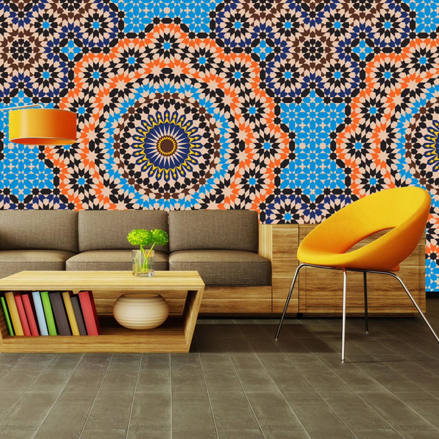 Яркие - обои в марокканском стиле