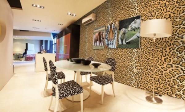 Яркий леопардовый акцент придаст особую изюминку в любом помещении
