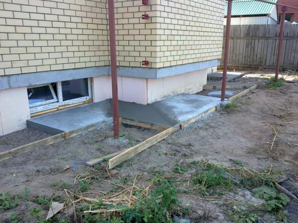 Заливка бетона.