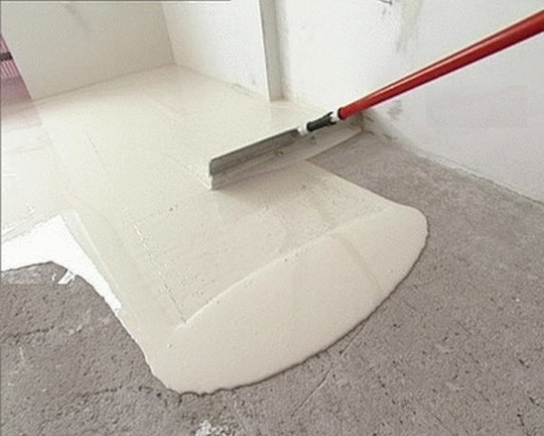 Заливка прямо на бетонное основание.