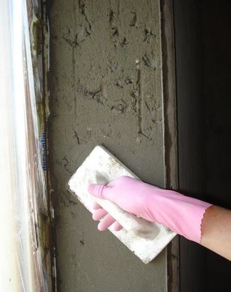 Откосы из цементного раствора смесь бетонная masteremaco n 900