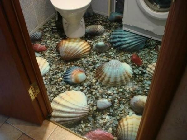 Зд эффект с помощью наливного покрытия.