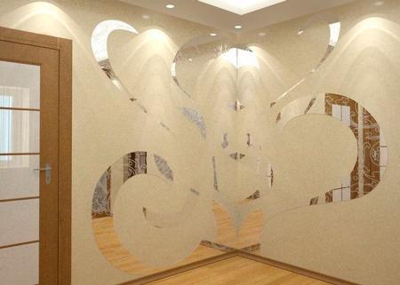 Зеркальные обои для стен (наклейки)
