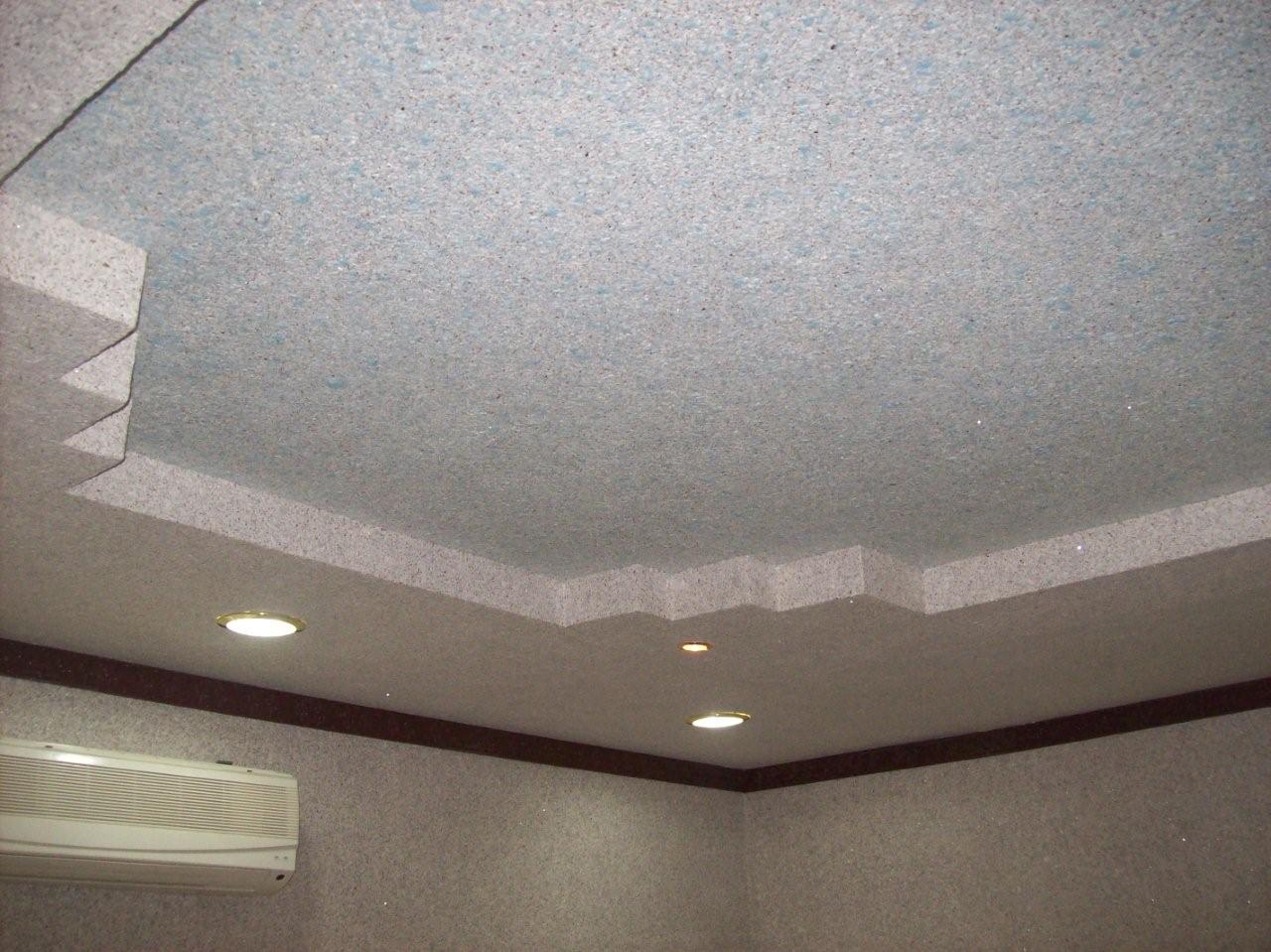 Жидкие обои – отличное решение для потолков со сложной формой