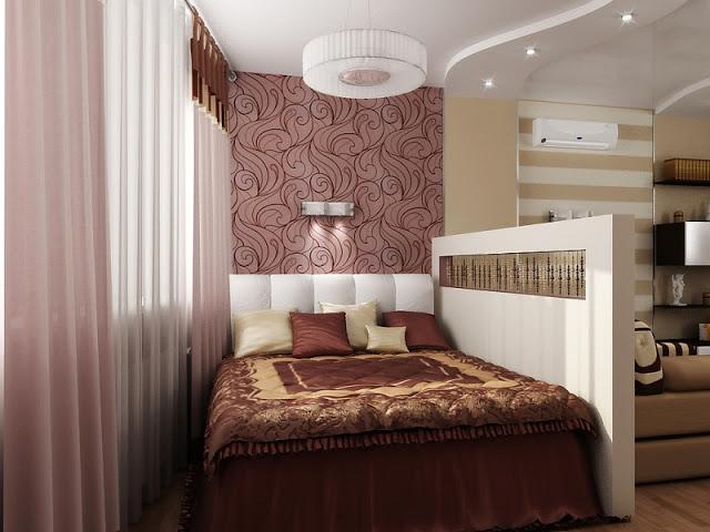 Зонирование зоны кровати